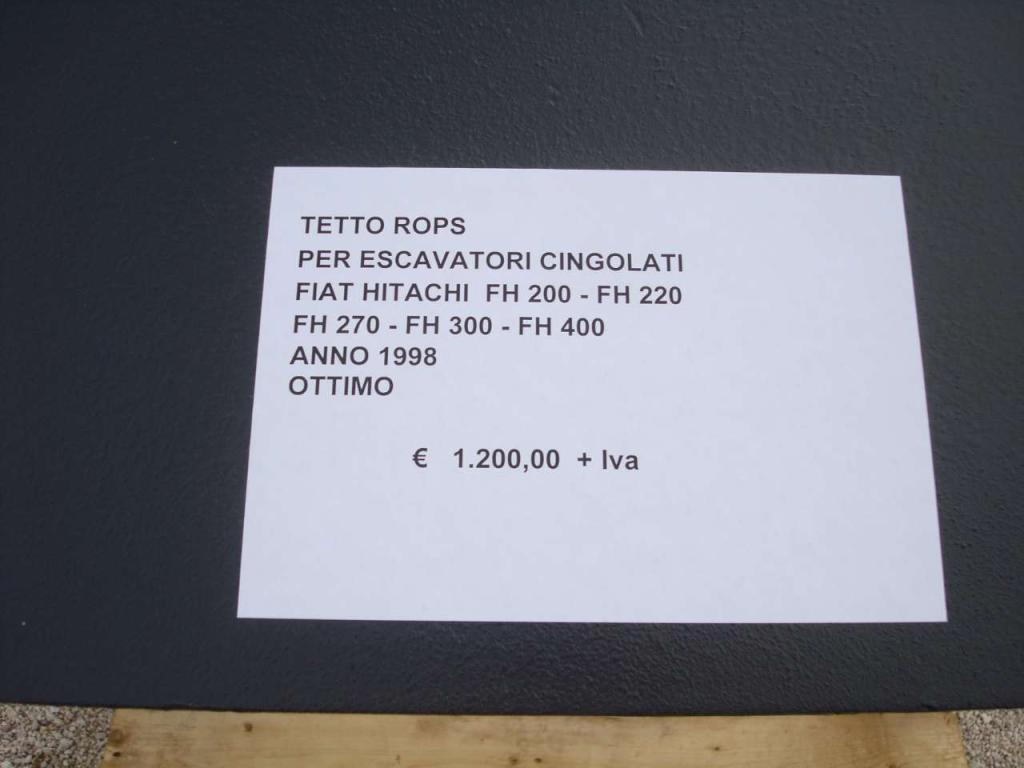 Protezione ROPS per Fiat Hitachi FH 200 - FH 220 - FH 270 - FH 300 - FH 400 Foto 4